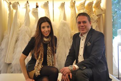 Con el diseñador HANNIBAL LAGUNA durante una entrevista en su atelier en Madrid