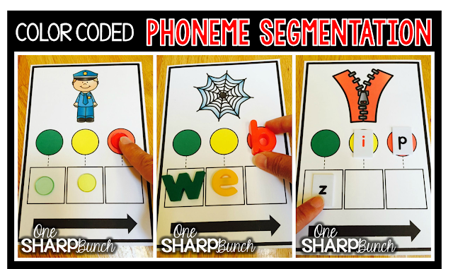 Help make phoneme segmentation easy with color coded CVC Boxers!  Simply slide a colored sound chip as you say each phoneme.