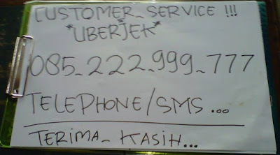customer service uberjek, call center uberjek