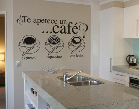 Decoraci n f cil decorar la cocina con vinilos for Vinilos pared cocina