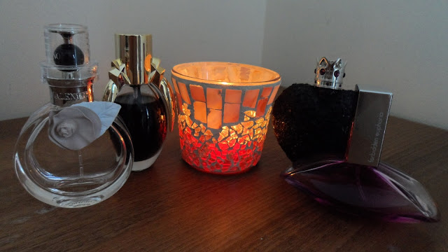 Favourite perfumes and a candle