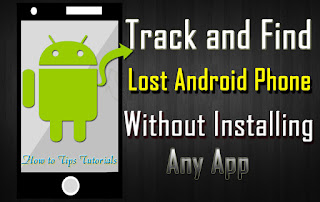 Find-Lost-Android-Phone-online