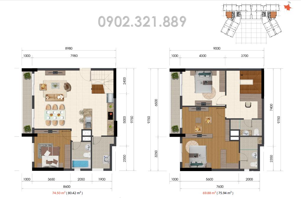 Căn hộ Duplex 145m2 The Everrich Infinity