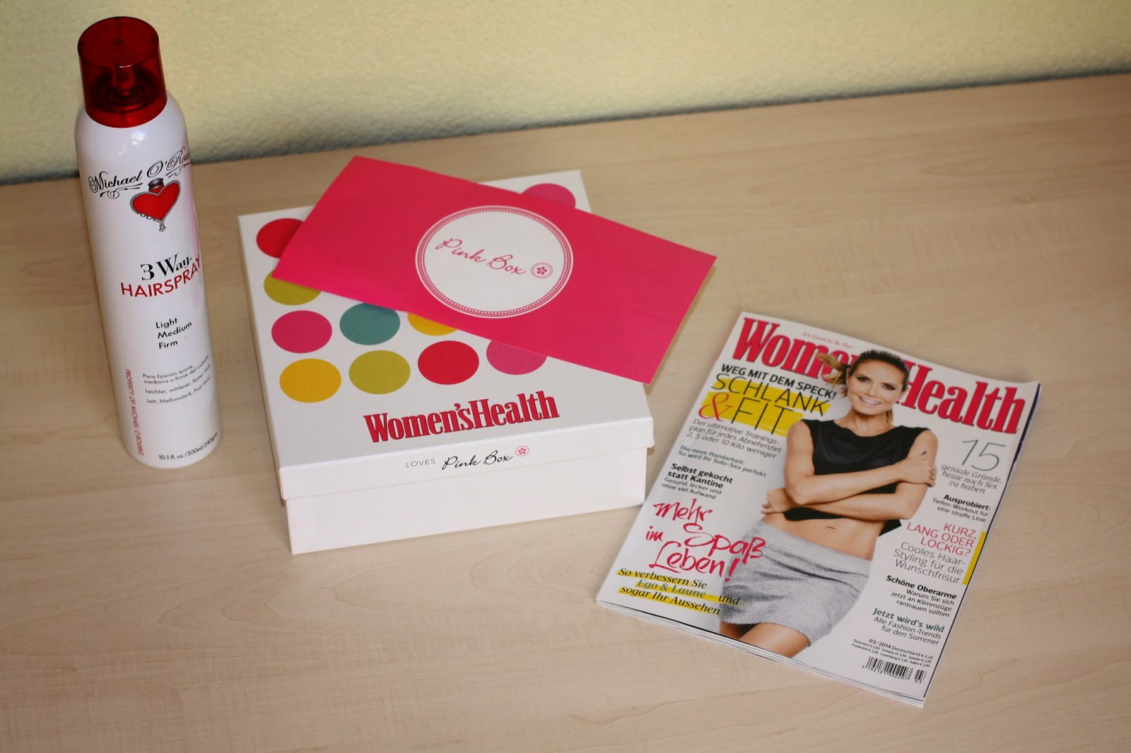 Pink Box März, Special Pink Box, Pink Bos, Patrizia Paul, Beauty Box, Woman's Health Pink Box