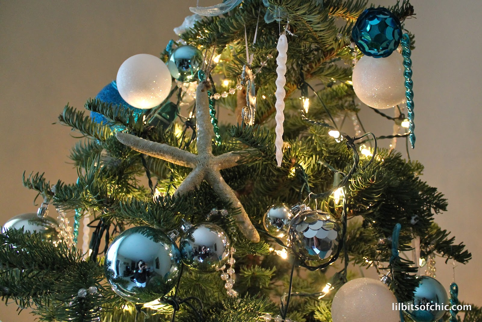 My Ocean Themed Christmas Tree   Lil bits of Chic by Paulina Mo ...