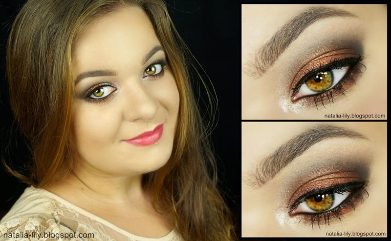 Natalia Lily Beauty Blog Makijaż Szampańskie Srebro Czekoladowy