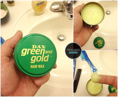 Detail DAX Green and Gold Hair Wax