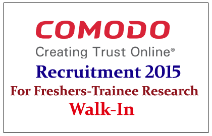 Comodo Security Solutions Hiring Freshers for Technical/Non-Technical Posts 2015