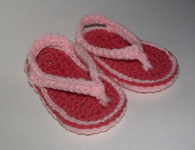 Free Crochet Pattern For Baby Thong Sandals Dancox For