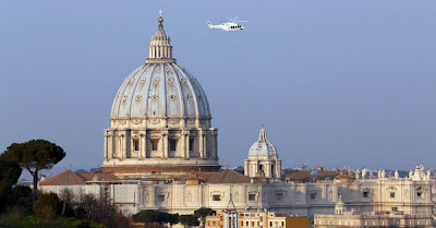 Pope Benedict XVI, retirement, abdicates, abdication, Roman Catholic Church, history, helicopter