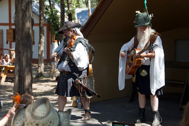 Sherwood Forest Celtic Festival 2012. McDade, Texas. Bedlam Bards perform.