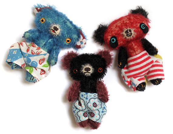 wee mohair bears
