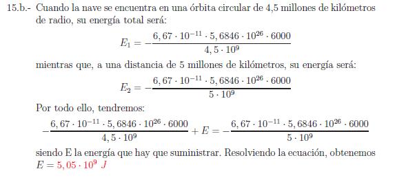 Examenes de selectividad campo gravitatorio problema resuelto 15b