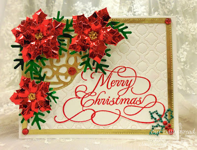 Our Daily Bread Designs, Flourished Merry Christmas, Peaceful Poinsettia, Boho Background, Fancy Foliage, Decorative Corners, Flourished Star Pattern, Designed by Robin Clendenning