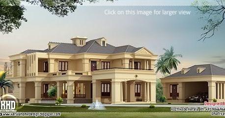 Luxury Villa In 4200 Square Feet Kerala Home Design And