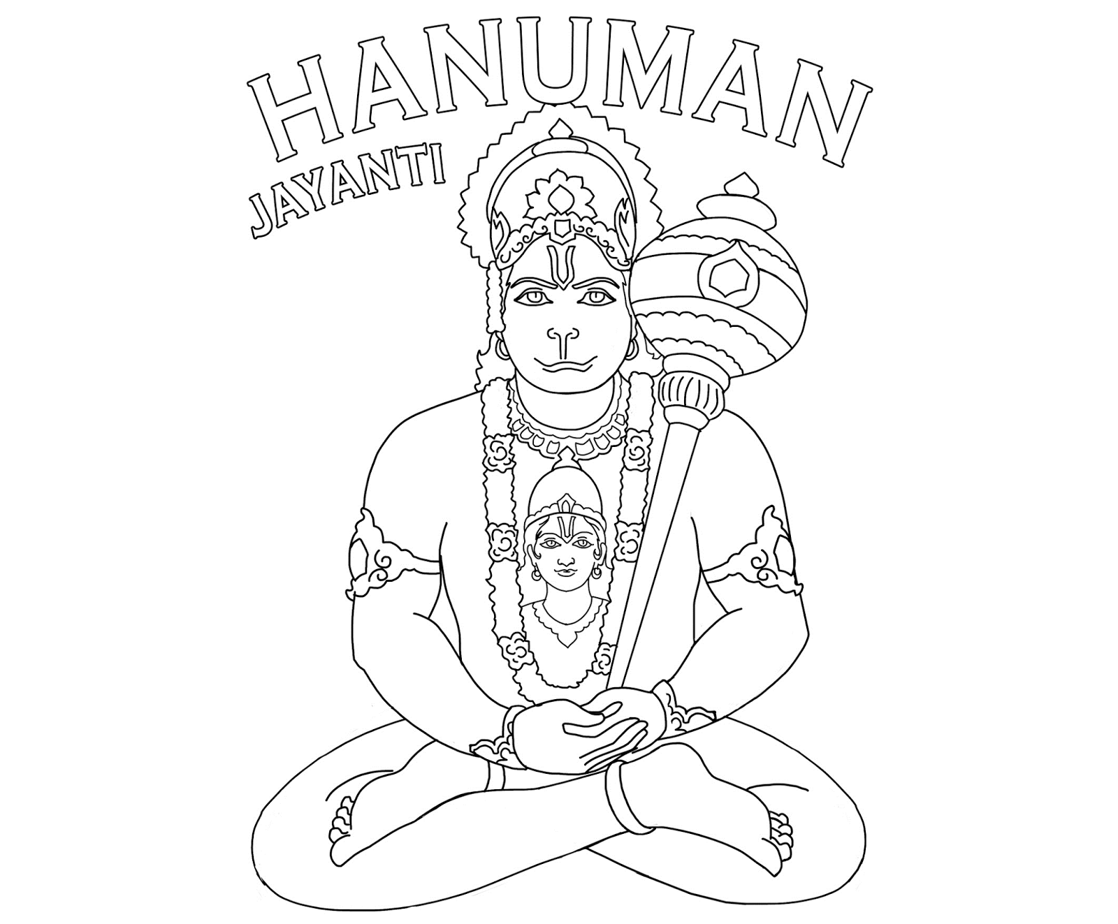 Lord Hanuman Coloring Drawing Free wallpaper