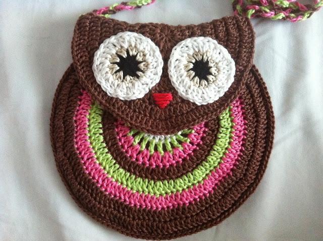 Owl Bag Knitting Pattern : My World...: Owl Purse free pattern and master class