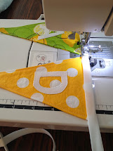 Little Word Knew Fabric Pennant Banner Tutorial
