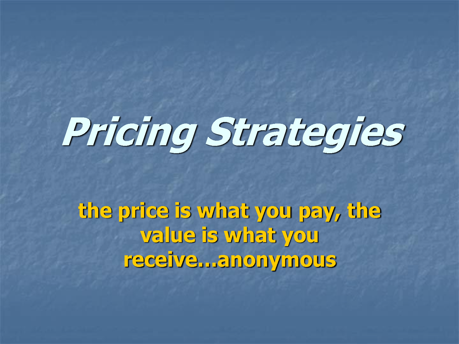 retail pricing strategies Three simple pricing strategies to grow profits in your parts department by ken rock, corporate training manager, auto/mate dealership systems.