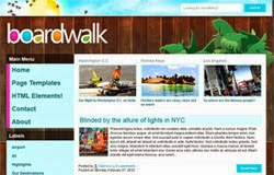 Boardwalk - Free Blogger Template