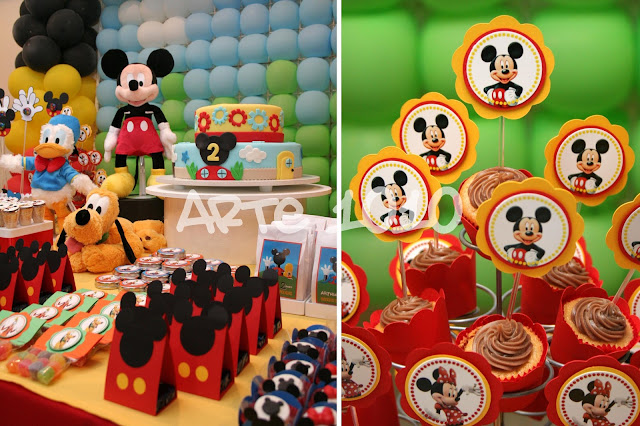 Casa Do Mickey Foi Representada No Bolo Decorado  Oh Toodles
