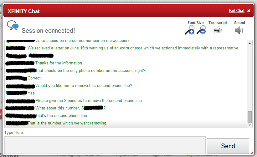 Xfinity Chat to resolve a billing issue