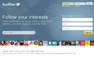 tampilan baru website twitter, wajah baru twitter, new home page twitter