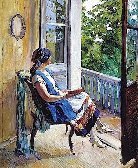 Sergei Arsenevich Vinogradov.  Summer Dreams c.1915