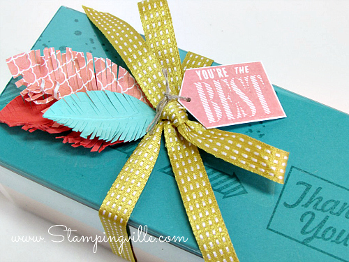 Handmade Paper Feathers and Tag