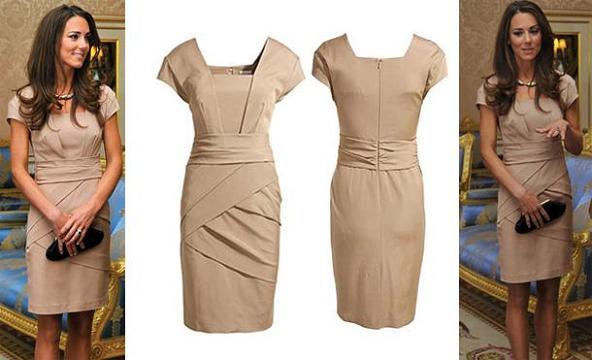 Welcome to bold caleb fashion kate middleton 39 s tan dress for Knock off kate middleton wedding dress