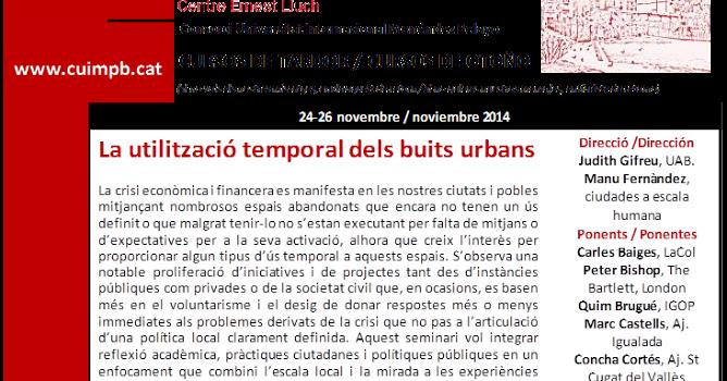 Ciudades a escala humana curso la utilizaci n temporal for Oficinas de trabajo temporal en barcelona