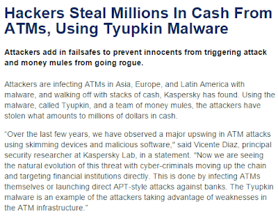tyupkin malware stolen money cash from atm