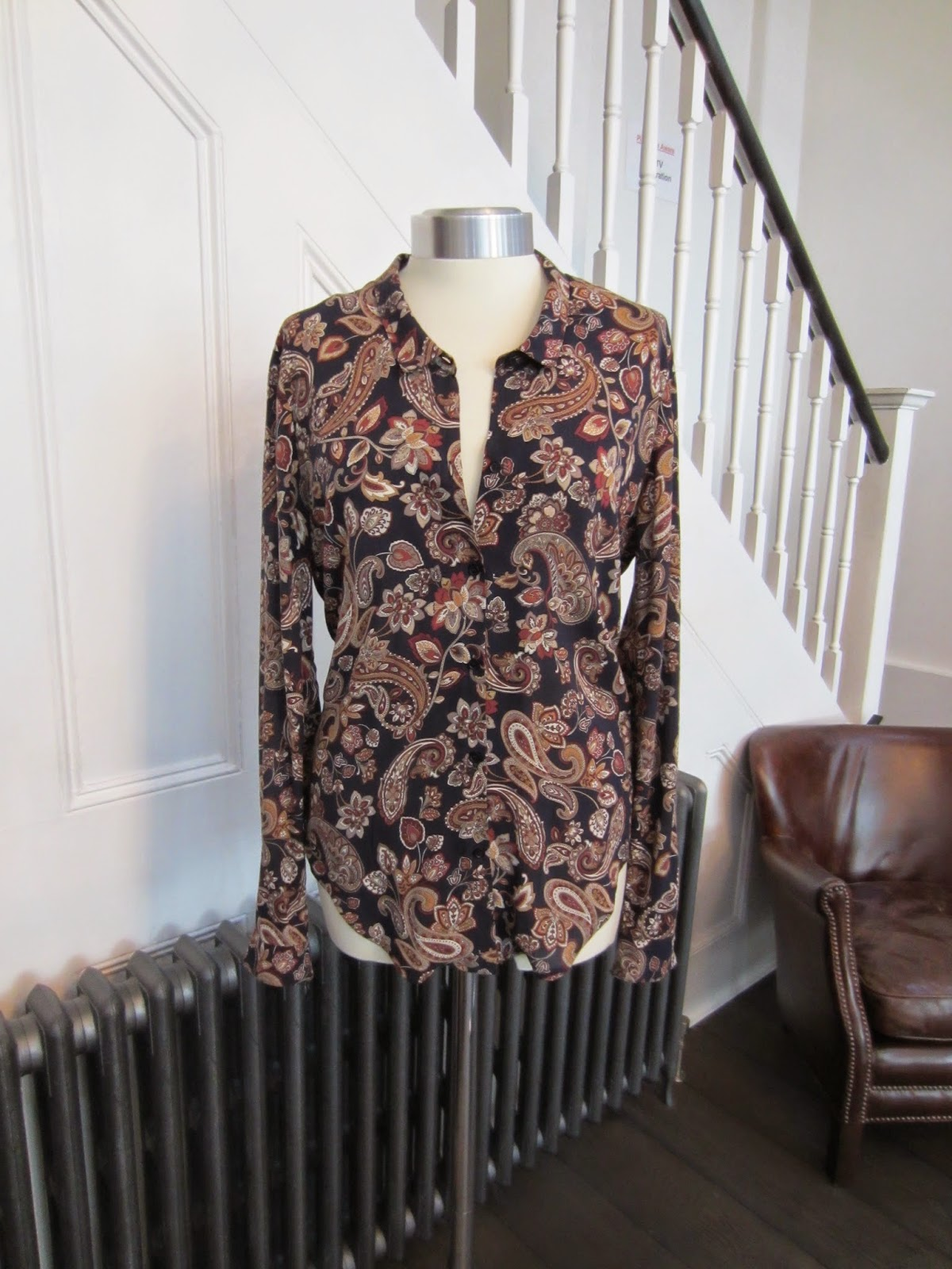 The Kooples Navy/Paisley Print Shirt