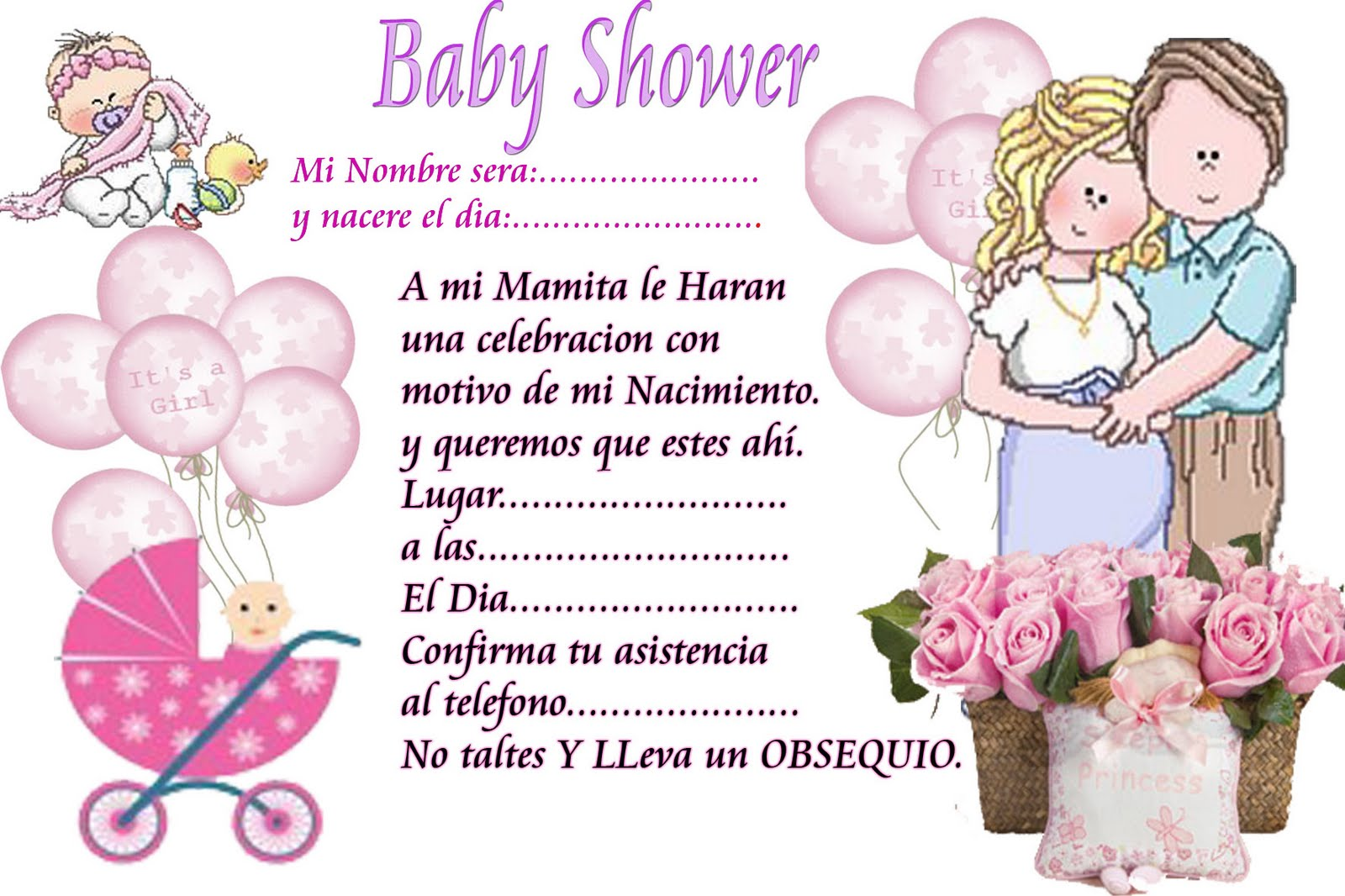 Baby Shower Recuerdos Para Imprimir ~ Baby shower food ideas gratis