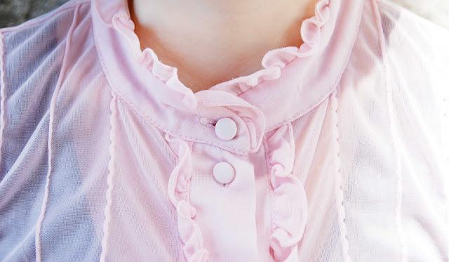 blouse, pastel, pink