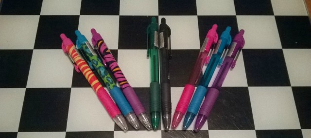 A set of 8 Zebra Pens