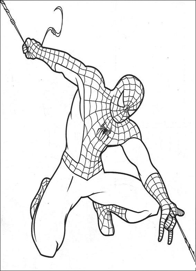 Pintar divertido desenhos para colorir homem aranha Coloring book spiderman