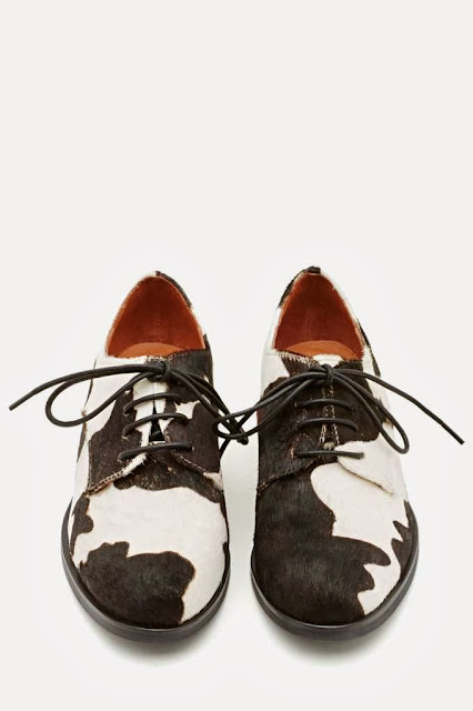 Jeffrey Campbell Cow Print Daltrey Flat shoes