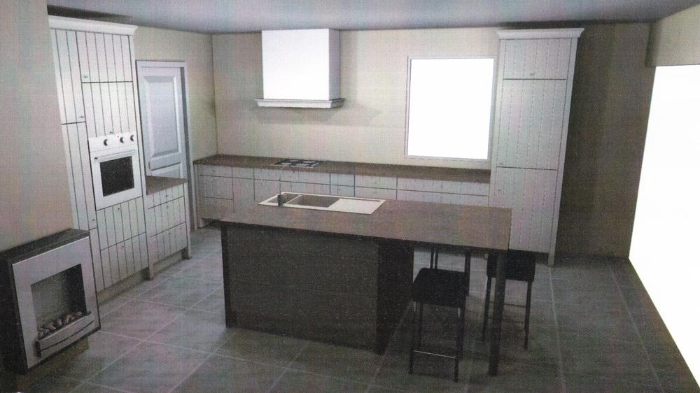 ilot central cuisine eggo. Black Bedroom Furniture Sets. Home Design Ideas