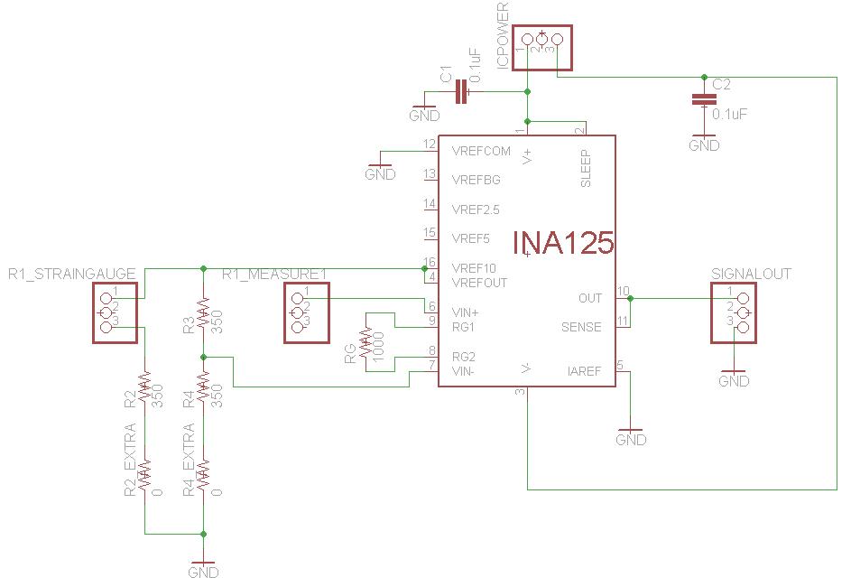 Smarter Every Day: EAGLE PCD layout of quarter bridge strain gauge