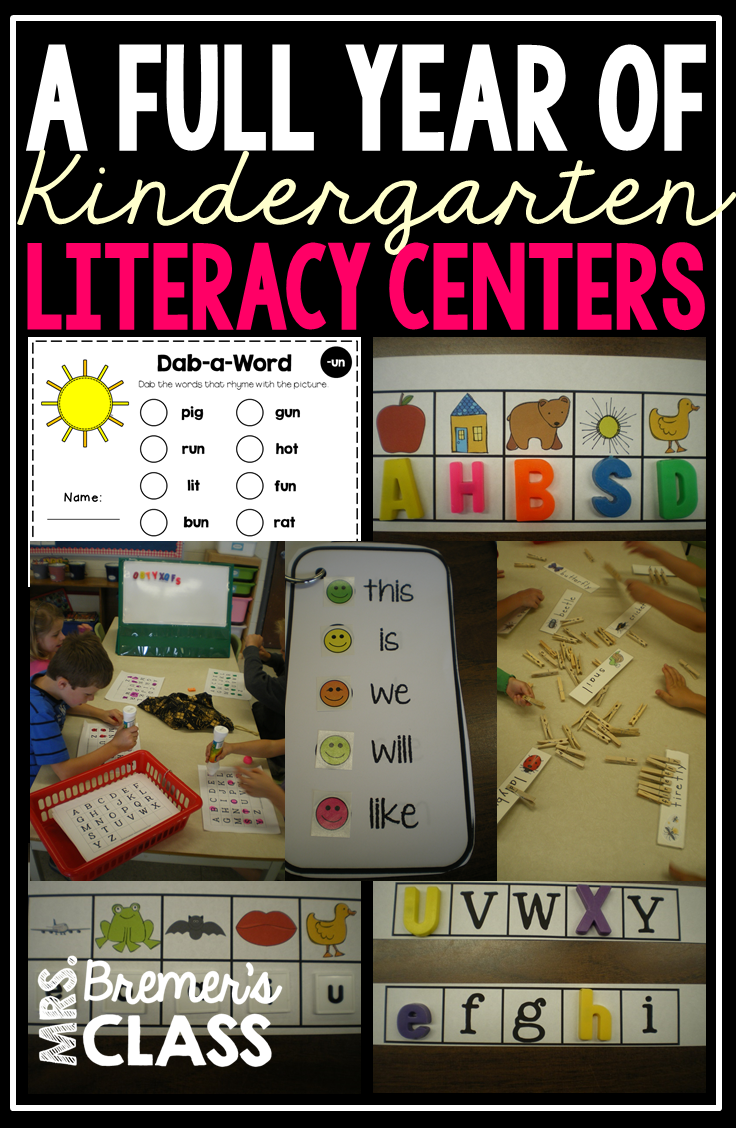 A YEAR OF K LITERACY CENTERS