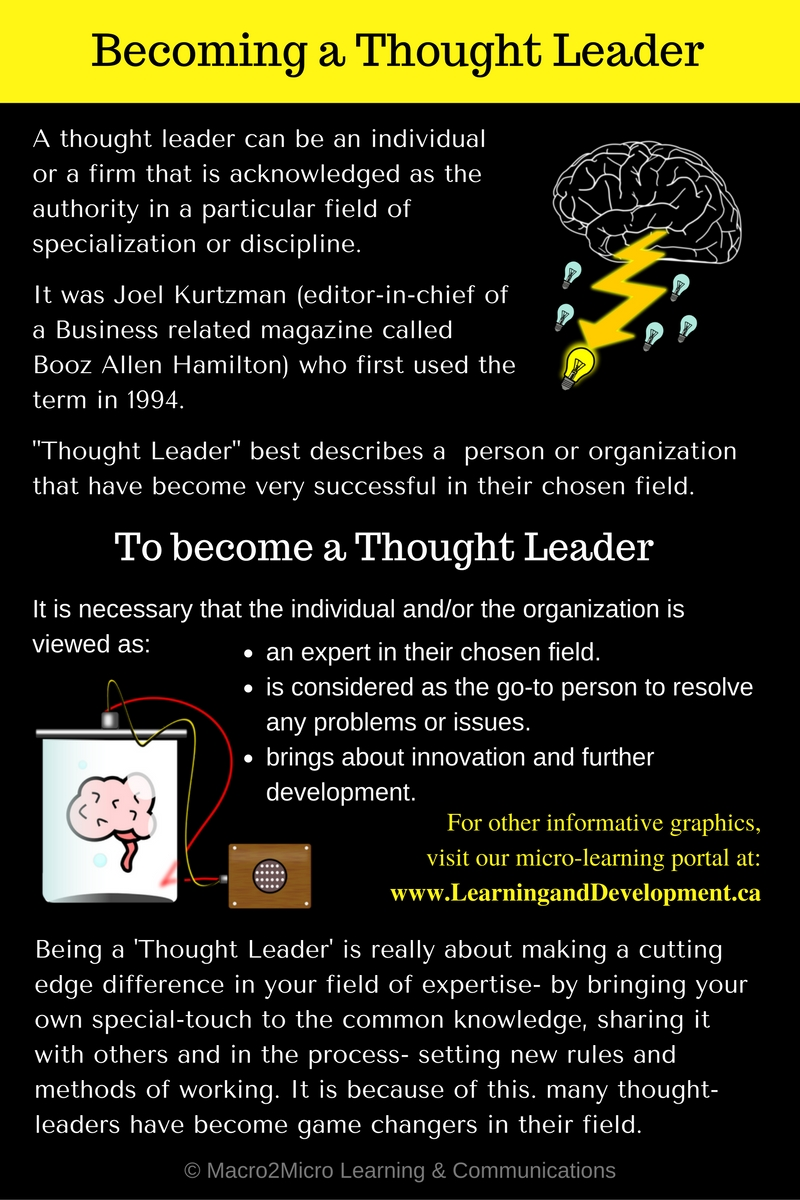 Becoming a Thought Leader