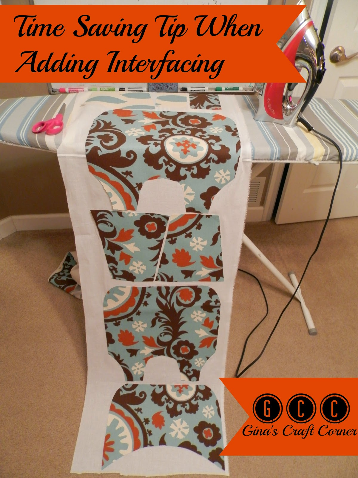 Time Saving Tip When Adding Woven Fusible Interfacing by Ginas Craft Corner