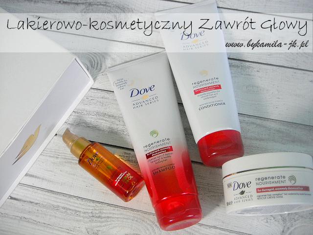 Dove Advanced Regenerate Nourishment szampon odżywka maska olejek regenerujący