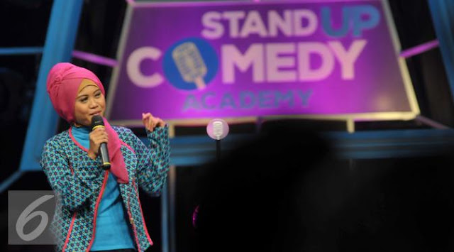 Musdalifah di Stand Up Academy Indosiar
