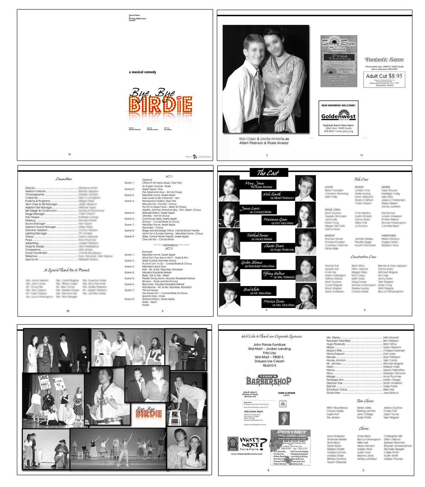 Playbill Bio Template. playbillder create your own playbill for ...