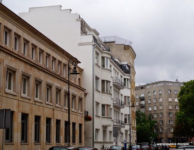 Warszawa Śródmieście ulica willa pałacyk kamienica ambasada