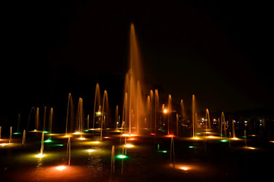 brindavan gardens mysore night view