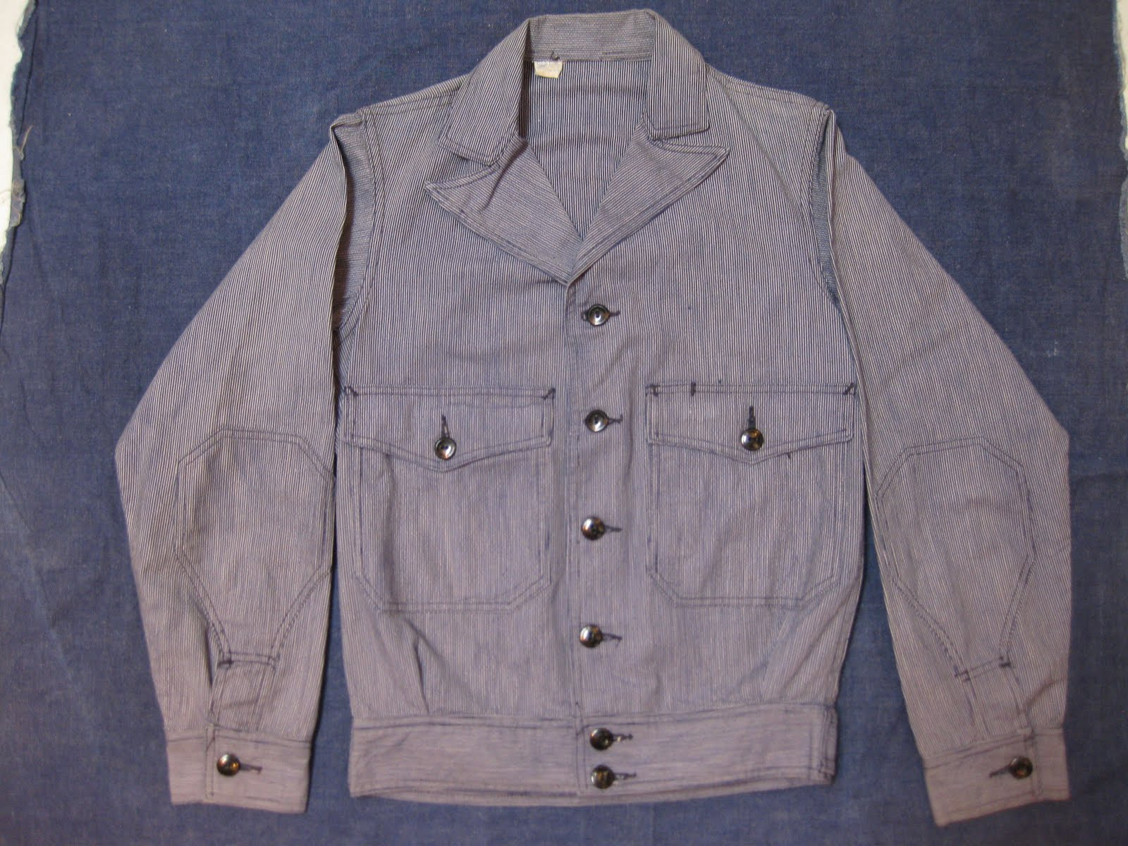 NRA-code(1933's~1935's)               PIN STRIPE               WORK JACKET