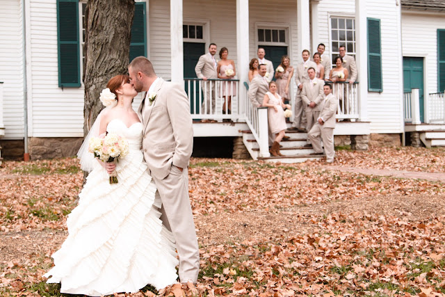 rustic wedding bridal party